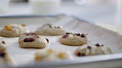 biscuits congelés dans un bac à glaçons
