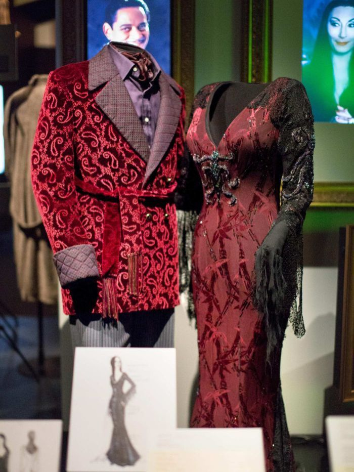 Addams Family costumes at Hollywood Costumes exhibition.