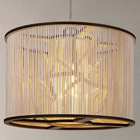 Buy Tom Raffield Cage Pendant Light, Birch/Ash Online at johnlewis.com