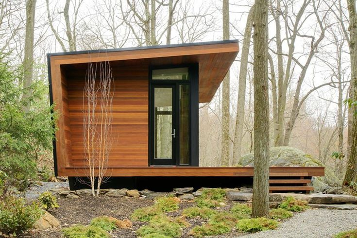 A 300 sq ft studio retreat in the woods designed for quiet contemplation.