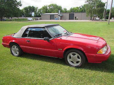 eBay: 1993 Ford Mustang LX 1993 MUSTANG LX CONVERTIBLE 5.0 #fordmustang #ford
