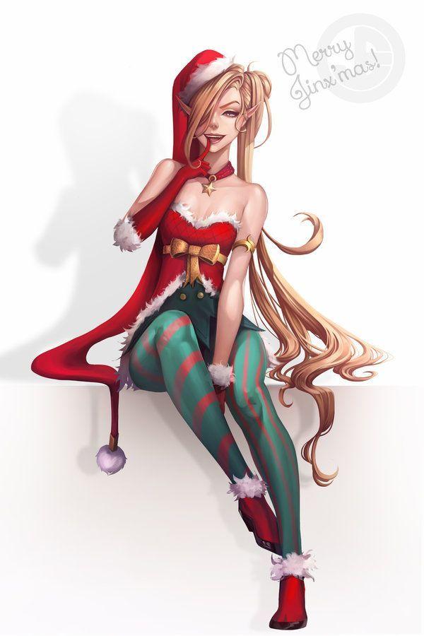 Merry JinX'mas by JELLYEMILY.deviantart.com on @DeviantArt - More at League of Legends #leagueoflegends #lol #christmas #fanart