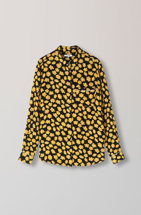 Emory Crepe Shirt, Black