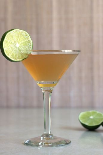 Embassy Cocktail recipe with brandy, Jamaican rum, Cointreau, lime and Angostura bitters. http://mixthatdrink.com/embassy-cocktail/