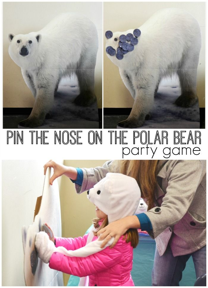 Plan a polar bear ice skating party for the ultimate winter celebration. Pin the nose on the polar bear party game is the perfect addition to your party!