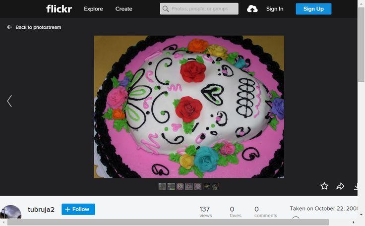 dia de los muertos cake sugar skull | Flickr - Photo Sharing!