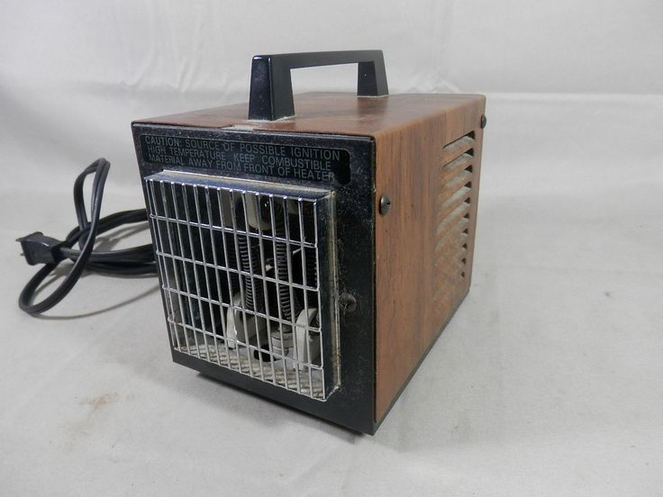 Vintage brookstone little big heat 6200 portable space heater fan forced air small mini rv - Heating small spaces concept ...