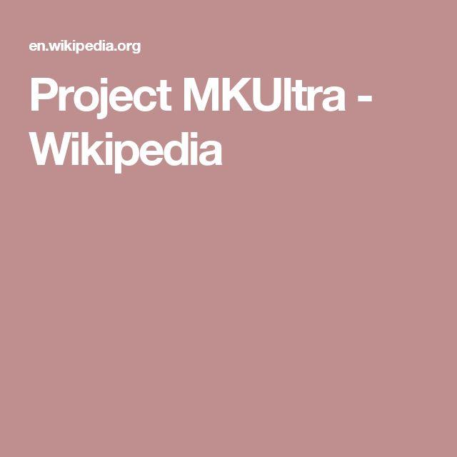 Project MKUltra - Wikipedia