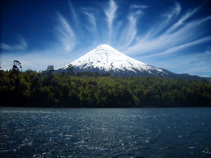 Villarrica Volcano, Chile - For further information, a map, & photos:  http://www.amazingplacesonearth.com/