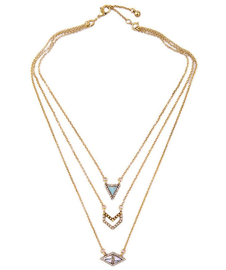 Necklaces : Arcadia 3 Layers Necklace