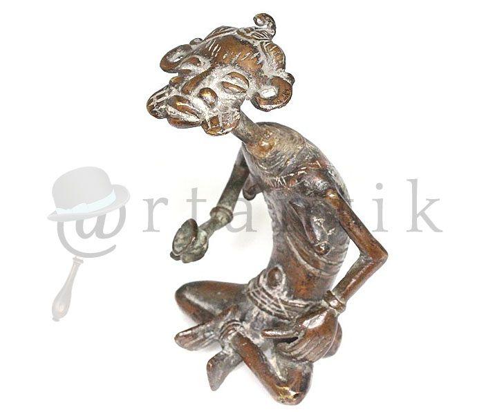 Sculptura bronz Tikar. Statue bronze Tikar