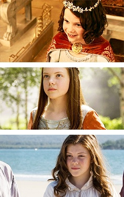 "Lucy Pevensie: A girl who didn't stop believing things just because people told her they weren't true. A girl brave enough to follow her heart. ""I wish you'd all stop trying to sound like grown-ups. I don't think I saw him, I did see him."""