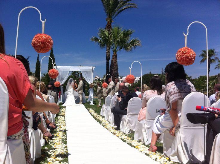 Vila vita Parc wedding. Designed by www.algarveweddingsbyrebecca.com