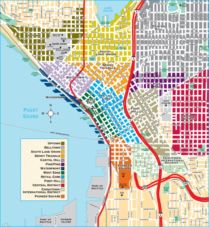 Rent Com Nyc: Downtown: The Area Of Downtown Seattle Is Split Into A Few