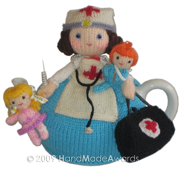 Ravelry: Maureen Nurse doll with children tea cosy pattern by Loly Fuertes