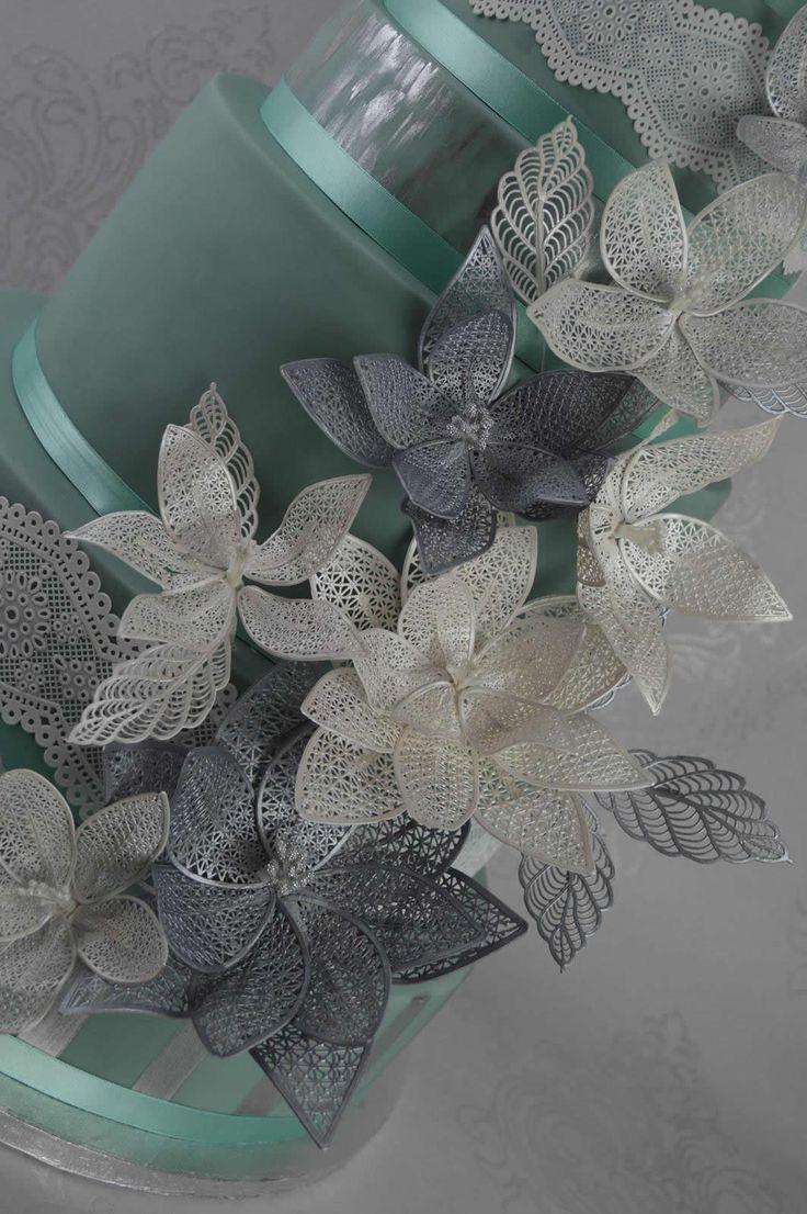Fantasy Flower 3D Lace Mat - Cake Lace Mat By Claire Bowman