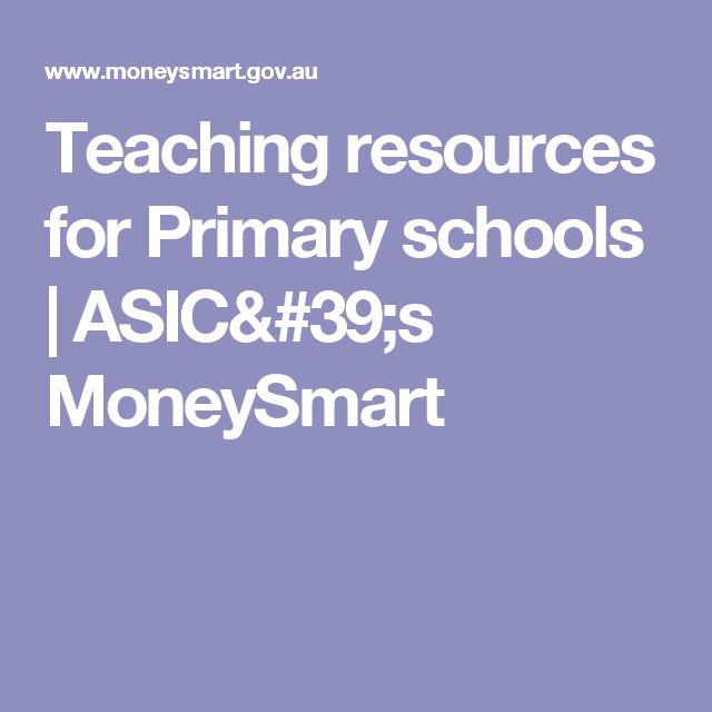 Teaching resources for Primary schools             ASIC's MoneySmart