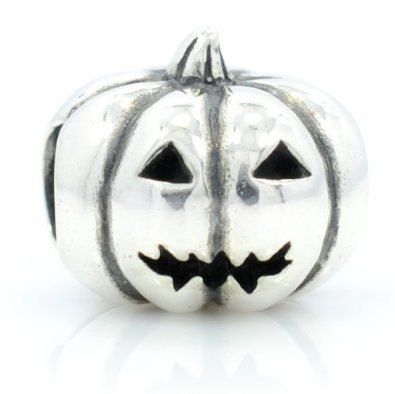 Halloween Pumpkin Antique Silver Bead Charm by YourCharmedStory, $16.00
