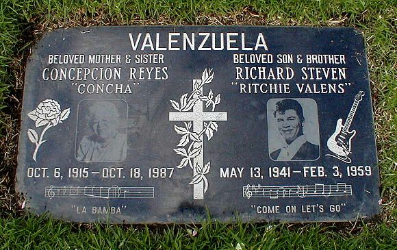 Ritchie Valens, 1941-1959. Buried in San Fernando Mission Cemetery   Mission Hills, California, USA.