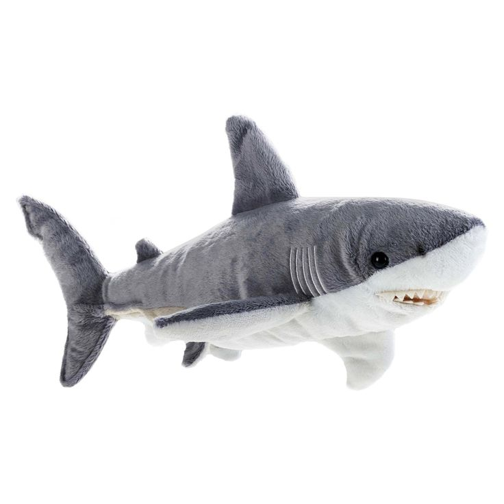 lelly national geographic ocean shark plush toy - Hai Kissen Muster