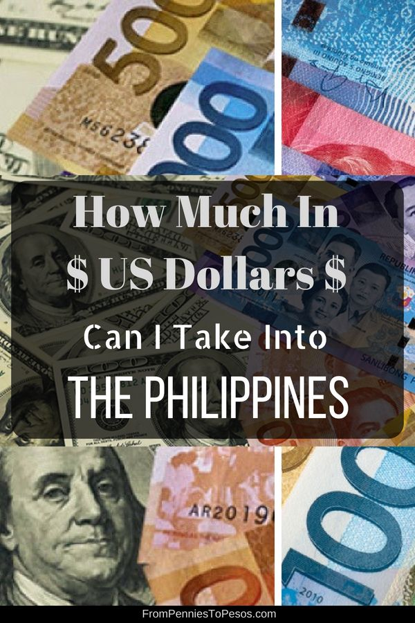 How Much Money Can I Legally Bring Into The Philippines