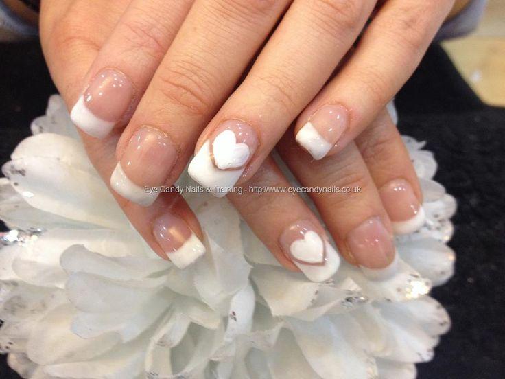 Acrylic nails with French gel polish