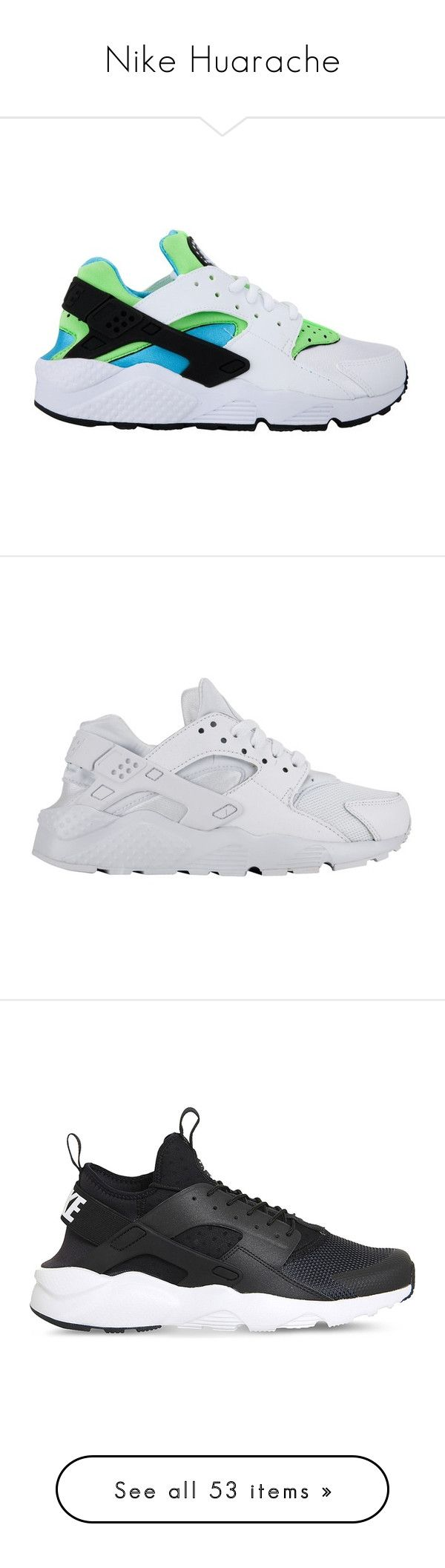 """Nike Huarache"" by aniahrhichkhidd ❤ liked on Polyvore featuring shoes, sneakers, nike, men's fashion, men's shoes, men's sneakers, mens shoes, mens leather shoes, mens leather sneakers and mens sneakers"