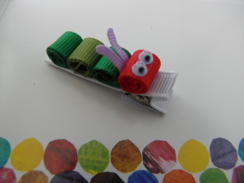 """Very Hungry"" Caterpillar Hair Clip"