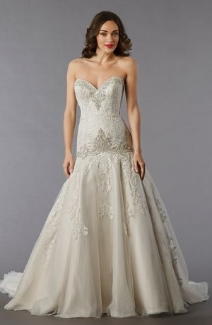 Danielle Caprese - Sweetheart A-Line Gown in Lace