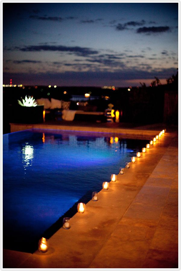 Outdoor Decoration Candles By Pool