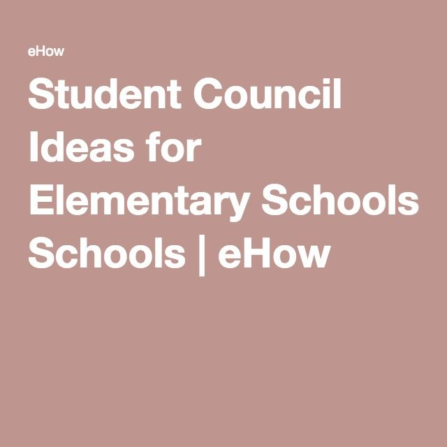 Student Council Ideas for Elementary Schools