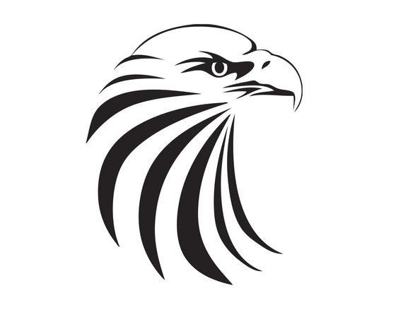 Bald Eagle Hawk American Bird Mascot Head Face Cartoon College Etsy Eagle Images Decal Wall Art Eagle Drawing