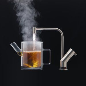I totally want this - a boiling water tap! Looks like it isn't available in the US yet, though.