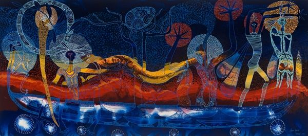The Voyage, Aboriginal art by Arone Meeks