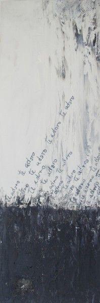 Te Adoro.Oil on Panel.24×8