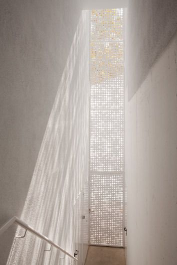 meshed light filtering window surface