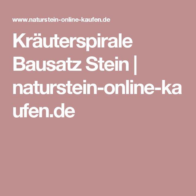 Kräuterspirale Bausatz Stein   naturstein-online-kaufen.de