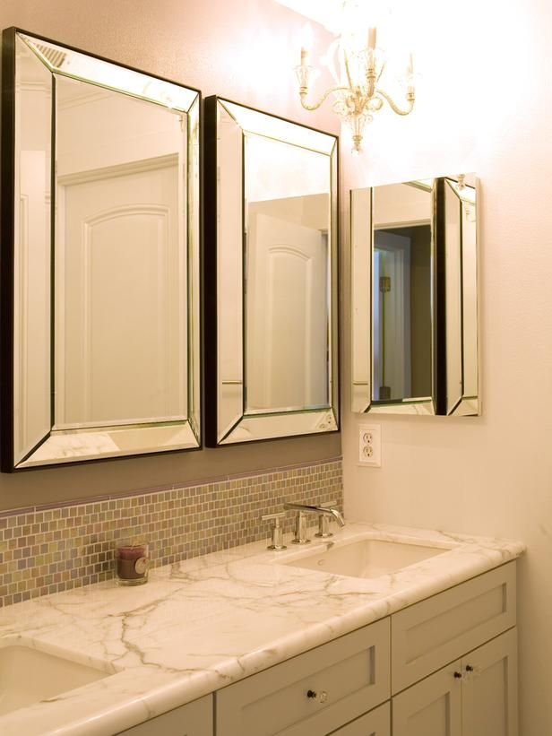 24 best closet in wall images on pinterest armoire bedrooms and cabinet storage - Bathroom vanity mirror ideas ...