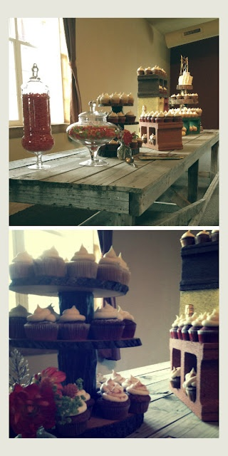 Faulkner's Ranch: A Rustic Fall Wedding - dessert bar, cupcakes