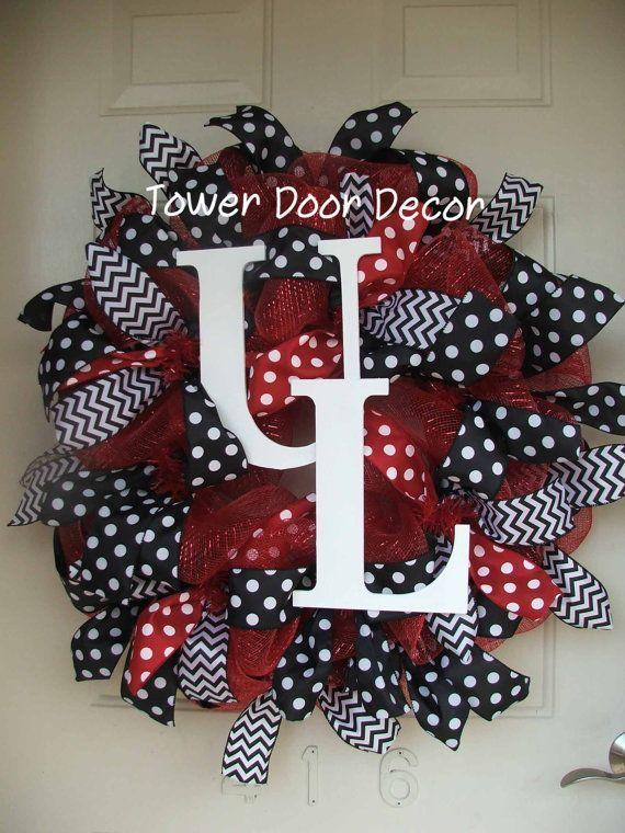 university of louisville wreaths | of L University of Louisville U of L Mesh by TowerDoorDecor, $75.00