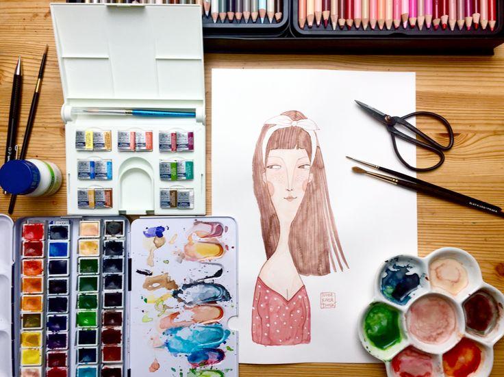 illustration by Ivona Knechtlova, on my table