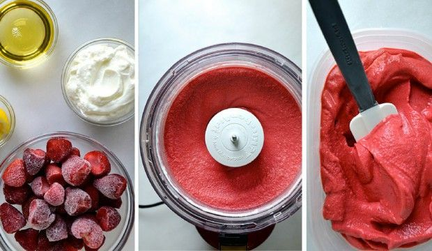 Jogurtovo-jahodová zmrzlina