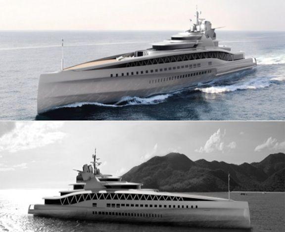Fincantieri Yachts' 145m Fortissimo Superyacht. Interesting looking #superyacht