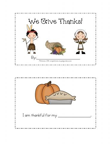 Free Thanksgiving Mini-Book