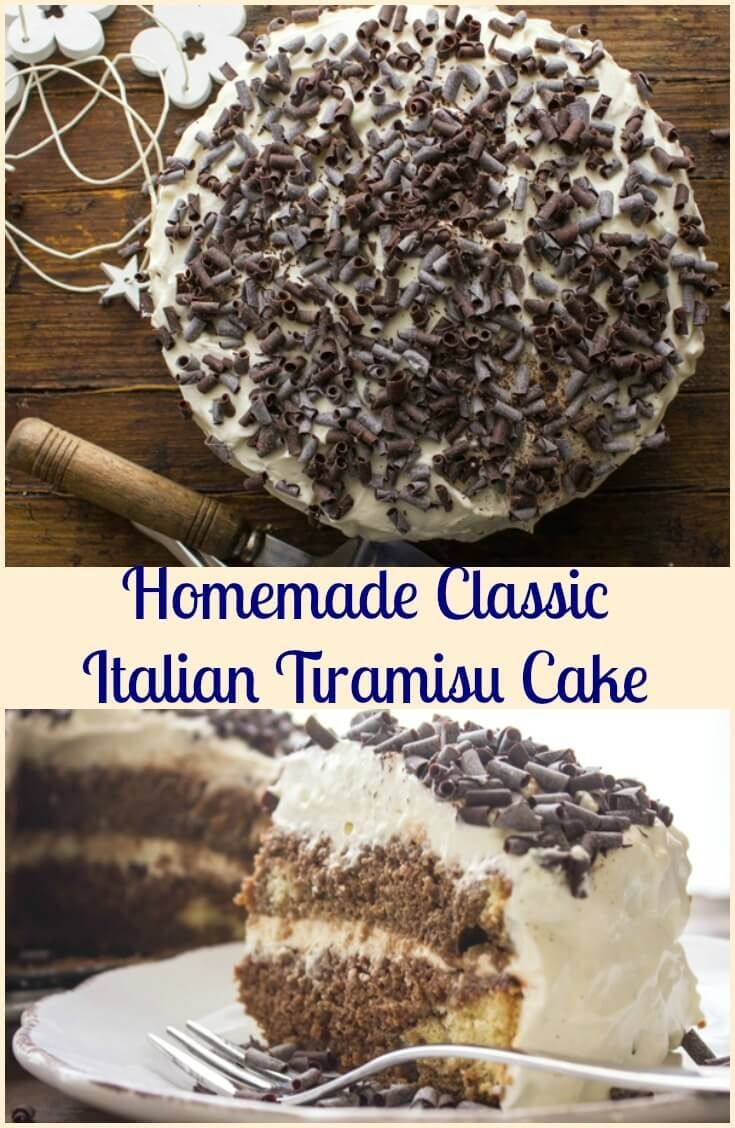 Tira mi su,a homemade classic Italian dessert recipe. Made with a delicious sponge cake layered with a creamy amazing filling. via @HTTP://it.pinterest.com/Italianinkitchn/