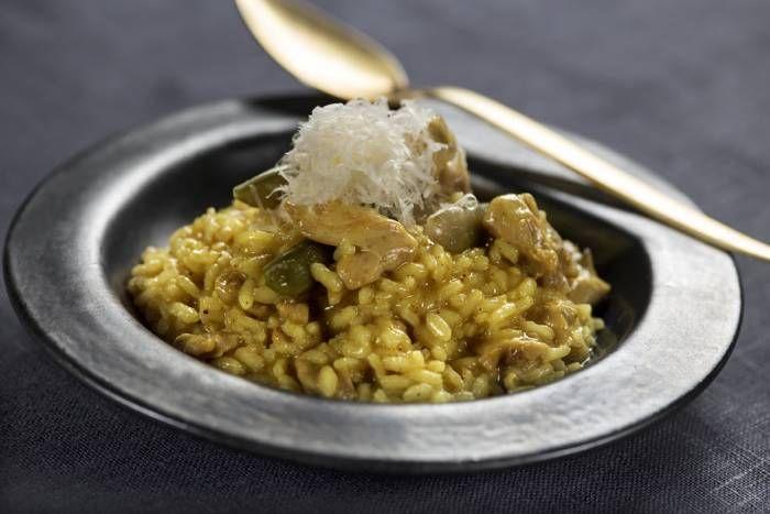 Receta de Risotto al curry con guisantes bajo en sal