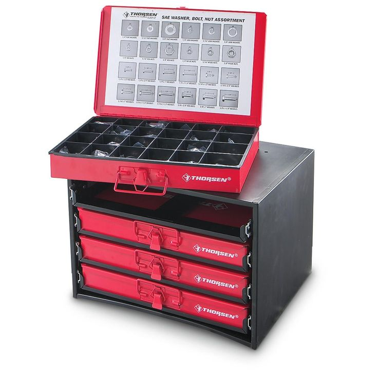 2 010 Pc Fasteners In Metal Cabinet Drawers Olympia