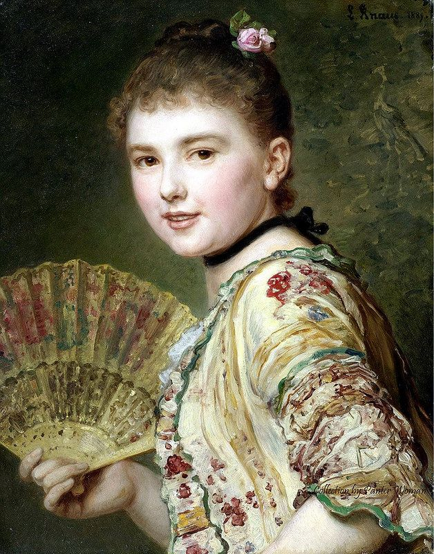 Ludwig Knaus - Lady with a Fan