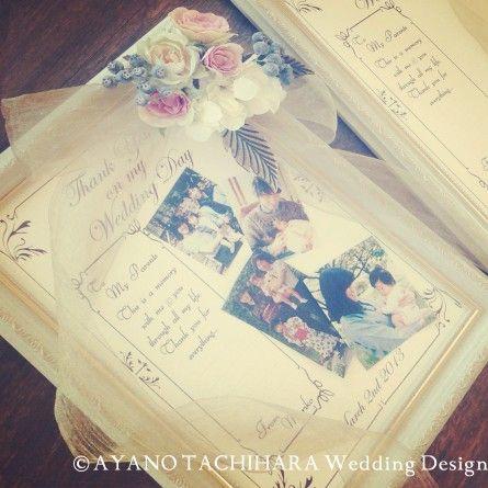 ご両親へのギフト by AYANO TACHIHARA Wedding Design