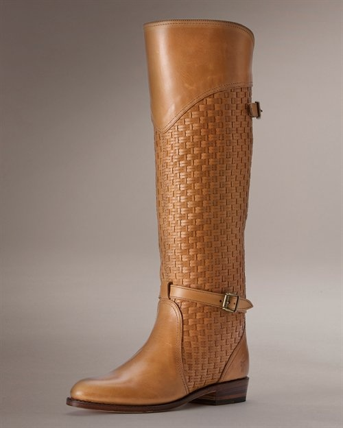 Frye Dorado woven riding boot. I already own this boot in black, spice, and taupe. It is literally the best.